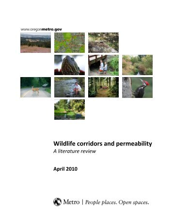 Wildlife corridors and permeability - Pacific Coast Joint Venture