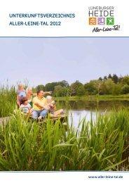 unterkunftsverzeichnis Aller-Leine-Tal 2012 - Viatoura
