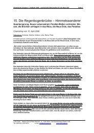 15. Die Regenbogenbrücke – Himmelswanderer - Licht-Oase