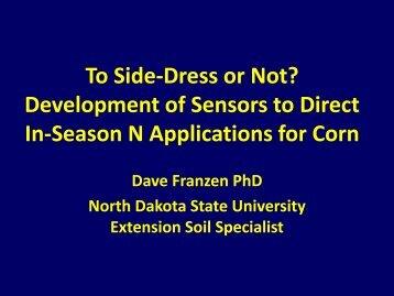 Development of Sensors to Direct In-Season N Application for Corn