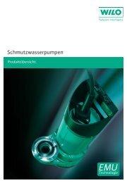 Katalog und technische Daten WILO Schmutzwasserpumpen