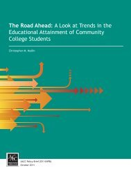 A Look at Trends in - American Association of Community Colleges