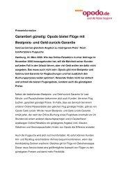Garantiert günstig: Opodo bietet Flüge mit Bestpreis- und Geld ...