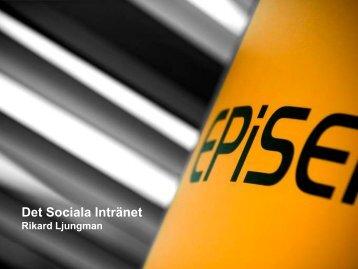 Intro till: Sociala intranät som engagerar - EPiServer World