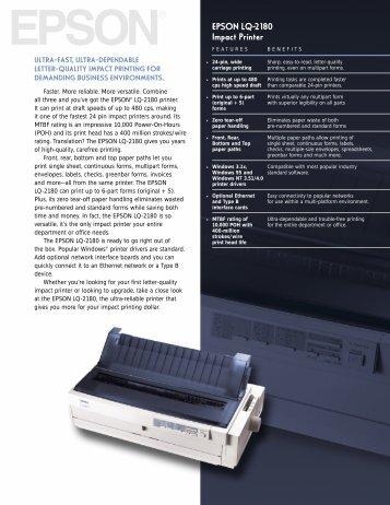 EPSON LQ-2180 Impact Printer