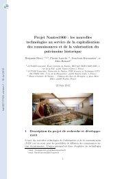 Projet Nantes1900: les nouvelles technologies au service de la ...