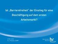 Barrierefreiheit - Werkstätten:Tag 2012