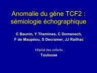 Anomalie du gène TCF2 : sémiologie échographique