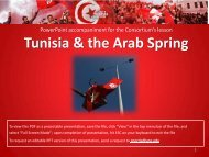 Tunisia & the Arab Spring