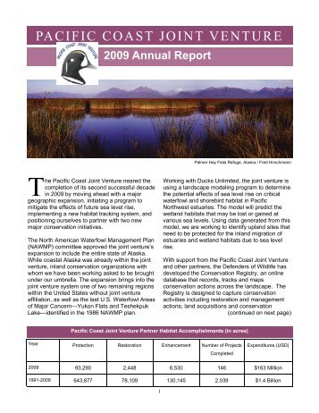 2009 Annual Report - Pacific Coast Joint Venture