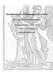 Kommentiertes Vorlesungsverzeichnis - Fachbereich ...