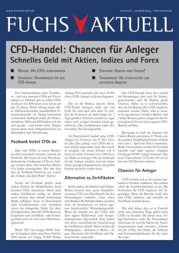 CFD-Handel: Chancen für Anleger - WH Selfinvest