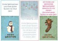 Frohe Weihnachten und einen guten Rutsch ins ... - Zaubereinmaleins