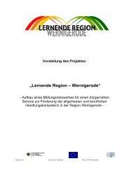 Lernende Region – Wernigerode - EUROlocal