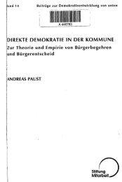 DIREKTE DEMOKRATIE IN DER KOMMUNE ... - Buergerbegehren