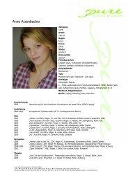 Arzenbacher, Anne 09 - pure actors and presenters