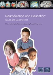 Neuroscience and Education: - Teaching and Learning Research ...