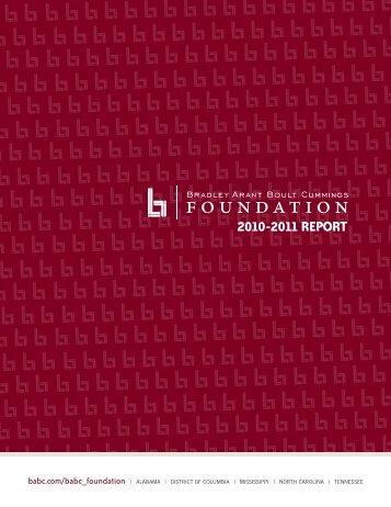 2010-2011 REPORT - Bradley Arant Boult Cummings LLP