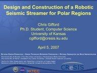 Design and Construction of a Robotic Seismic Streamer for Polar ...