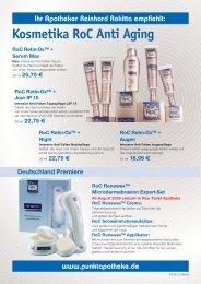 Kosmetika RoC Anti Aging - Punkt-Apotheke Bünde