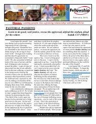 February 2013 Newsletter.pub - Fellowship UMC Trophy Club