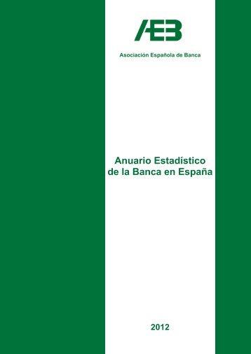 Anuario estadístico de la banca en España 2012