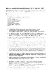 Zápis ze zasedání Akademického senátu FF OU ze dne 11