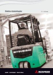 Klicken Sie hier um die Mitsubishi-Elektrostapler Produktpalette ...