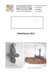 Beretning for 2012 - Bornholms Museum