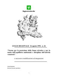 Norme per la protezione della fauna selvatica e ... - Provincia di Lodi