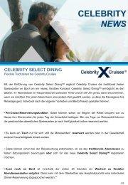 CELEBRITY NEWS - Celebrity Cruises AT