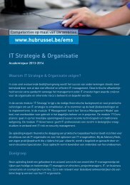 IT Strategie & Organisatie - HUBRUSSEL.net