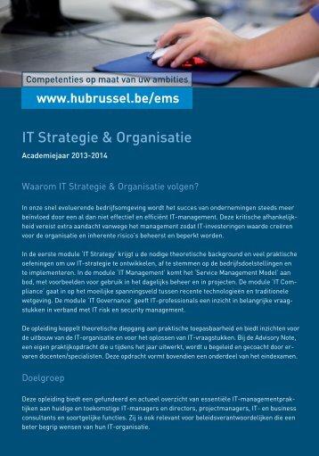 IT Strategie & Organisatie - HUBRUSSEL.net