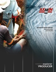 Second Quarter Report - AXMIN Inc