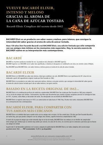 Bacardi Elixir - scoop