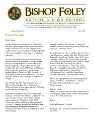 June 2013 Newsletter final - Bishop Foley Catholic High School