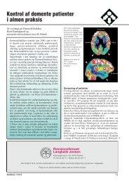 Kontrol af demente patienter i almen praksis - Lægen i Midten