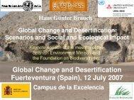 Global Change and Desertification Fuerteventura (Spain), 12 July ...