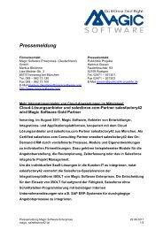 Pressemeldung - Publizistik Projekte