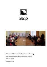 Dokumentation der Moderatorenschulung - bei der DÄGfA