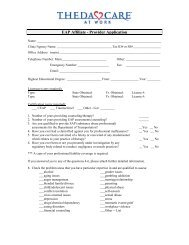 Employee Assistance Program (EAP) Application Form ... - ThedaCare