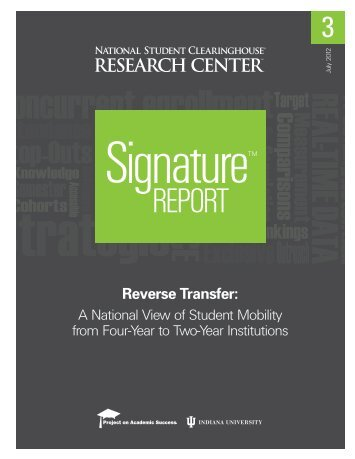 Reverse Transfer: A National View of Student ... - Inside Higher Ed