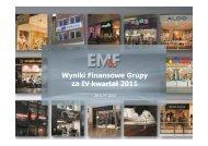 Q4 2011 GRUPA EMF Prezentacja - Empik Media & Fashion