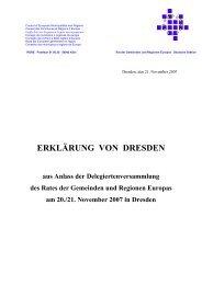 Erklärung von Dresden - Rat der Gemeinden und Regionen Europas