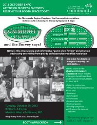 to download the 2013 Exhibitor Brochure! - Chesapeake Region ...