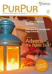 Advent – die stade Zeit? Das Unternehmensmagazin von Pur Vital