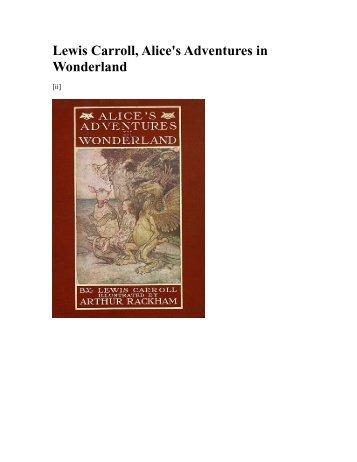 Lewis Carroll, Alice's Adventures in Wonderland - literature save 2