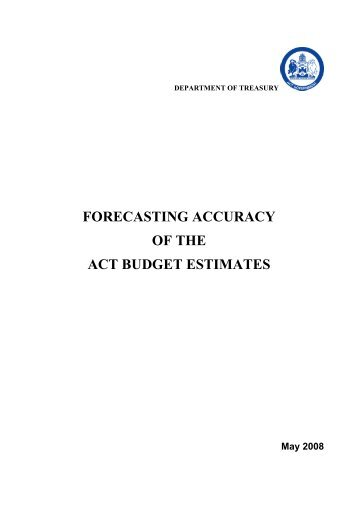 Forecasting Accuracy - ACT Budget.pdf - Treasury