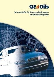 Schmierstoffe für Personenkraftwagen und Kleintransporter - Q8 Oils