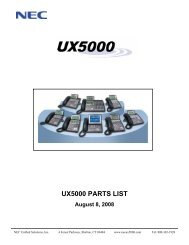 UX5000 PARTS LIST - NEC UX5000